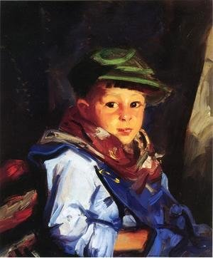 Robert Henri - Boy with a Green Cap (or Chico)