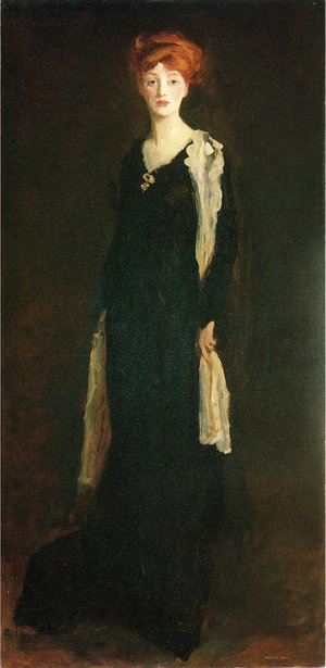 O in Black with Scarf (or Marjorie Organ Henri)