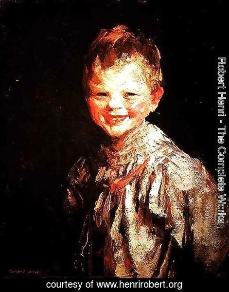 Robert Henri - Laughing Child, Henri, 1907
