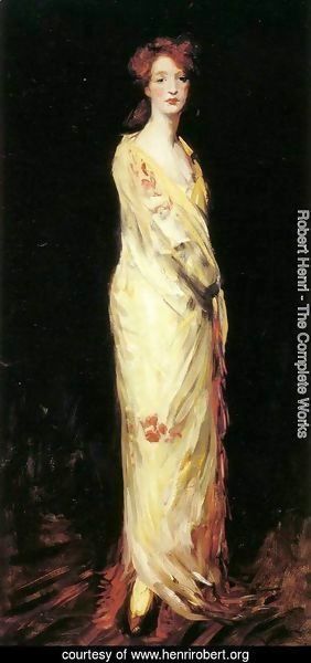 Robert Henri - Marjorie in a Yellow Shawl
