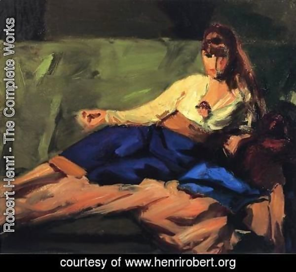 Robert Henri - The Lounge (Figure on a Couch)