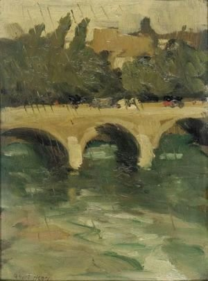 Robert Henri - Chareton Bridge - Raining