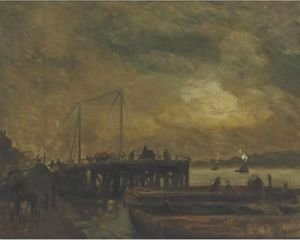 Robert Henri - Coal Pier On The North River