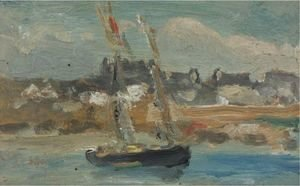 Robert Henri - Two Masted Schooner, Concarneau