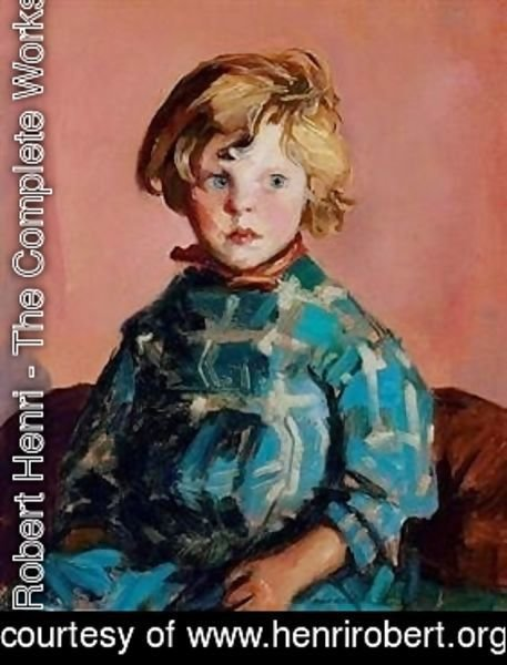 Robert Henri - The blue plaid dress(Annie)