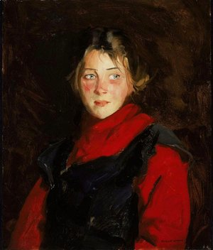 Robert Henri - Painting of Irish Girl Mary O Donnel 1913
