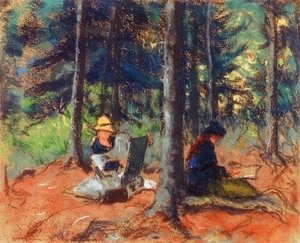 Robert Henri - Artists In The Woods