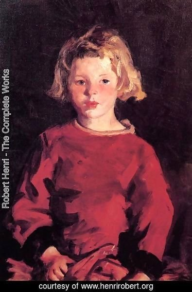 Robert Henri - Bridget In Red