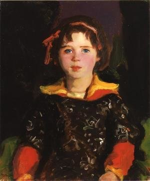 Robert Henri - Bridgie Aka Girl With Chinese Dress