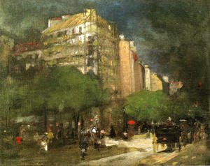 Robert Henri - Cafe Du Dome Aka On The Boulevard Montparnasse