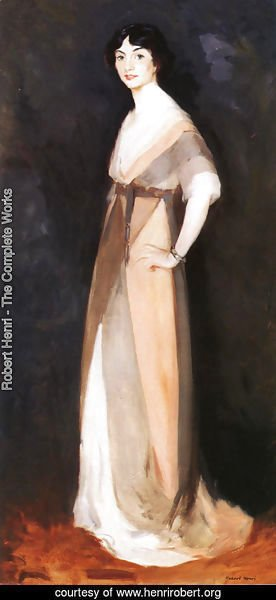 Robert Henri - Girl In Rose And Gray Miss Carmel White