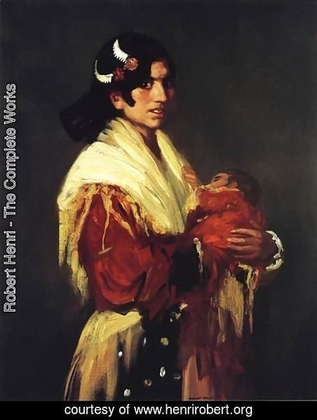 Robert Henri - Gypsy Mother (Maria Y Consuelo)