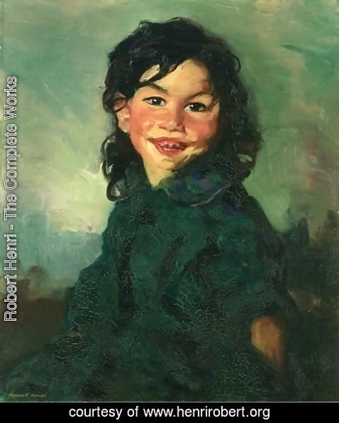 Robert Henri - Laughing Gypsy Girl