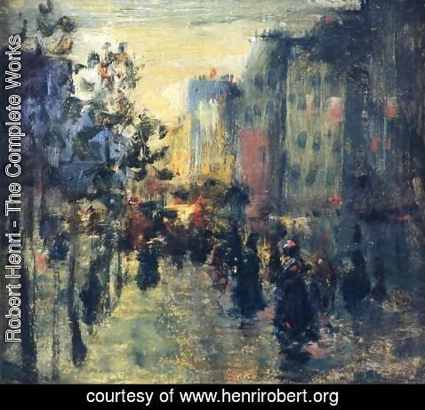 Robert Henri - Misty Effect  Paris