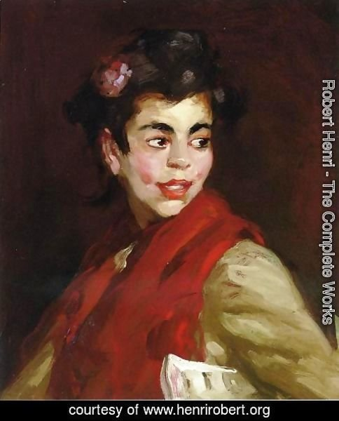 Robert Henri - Newsgirl  Madrid  Spain