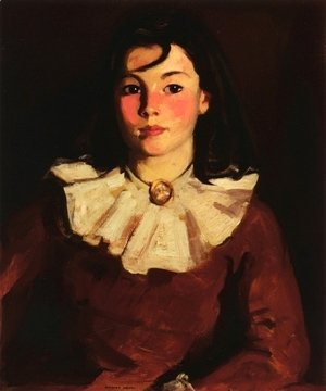 Robert Henri - Portrait Of Cara In A Red Dress