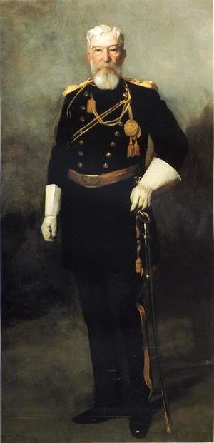 Robert Henri - Portrait Of Colonel David Perry  9th U  S  Cavalry