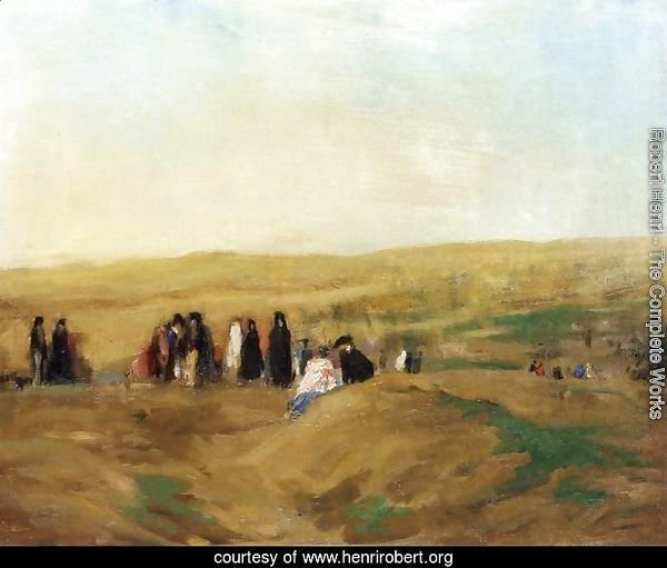 Procession In Spain Aka Spanish Landscape With Figures