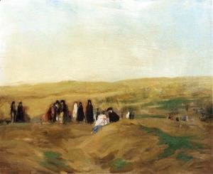 Robert Henri - Procession In Spain Aka Spanish Landscape With Figures
