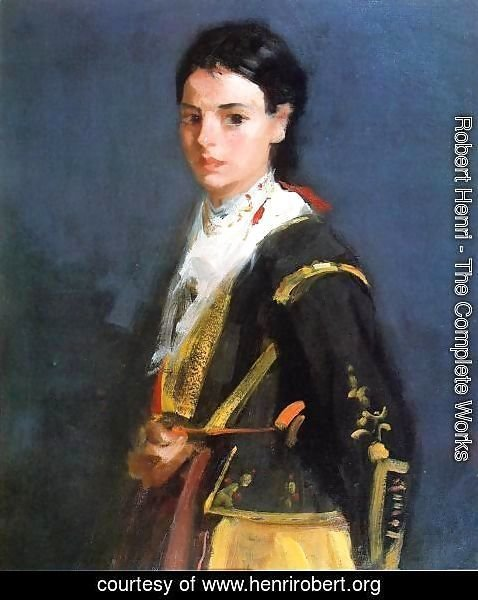 Robert Henri - Segovia Girl  Half Length