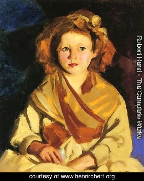 Robert Henri - Sissy In Yellow