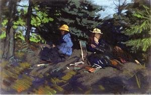 Robert Henri - Sketchers In The Woods