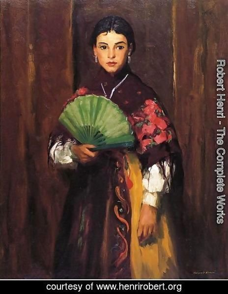 Robert Henri - Spanish Girl Of Segovia Aka Peasant Girl Of Segovia