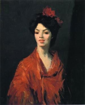 Spanish Woman In A Red Shawl