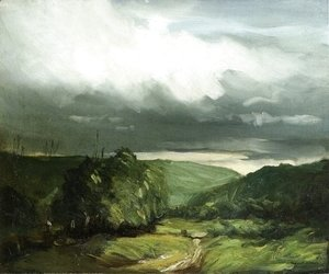 Robert Henri - Storm Weather   Wyoming Valley