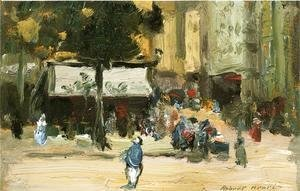 Robert Henri - Street Corner In Paris