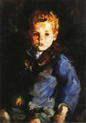 Robert Henri - The Irish Boy In Blue Denim   Anthony Lavelle