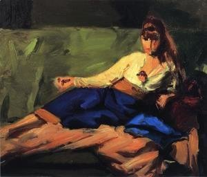 Robert Henri - The Lounge Aka Figure On A Couch