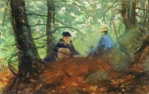 Robert Henri - Two Girls In The Woods