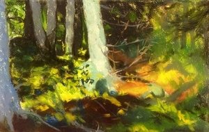 Robert Henri - Under The Trees   Monhegan