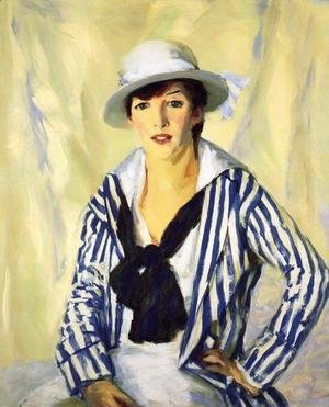 Robert Henri - Viv In Blue Stripe