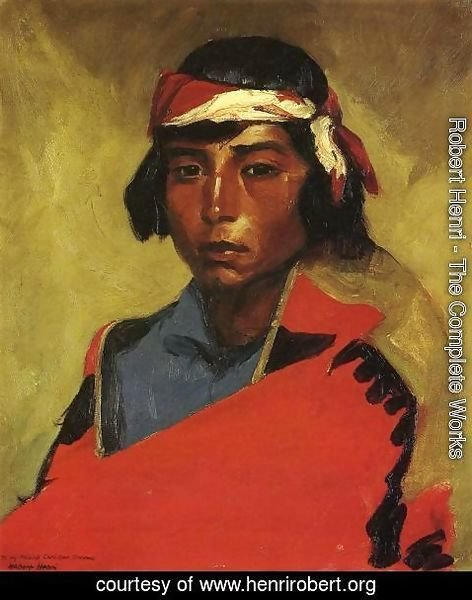 Robert Henri - Young Buck Of The Tesuque Pueblo